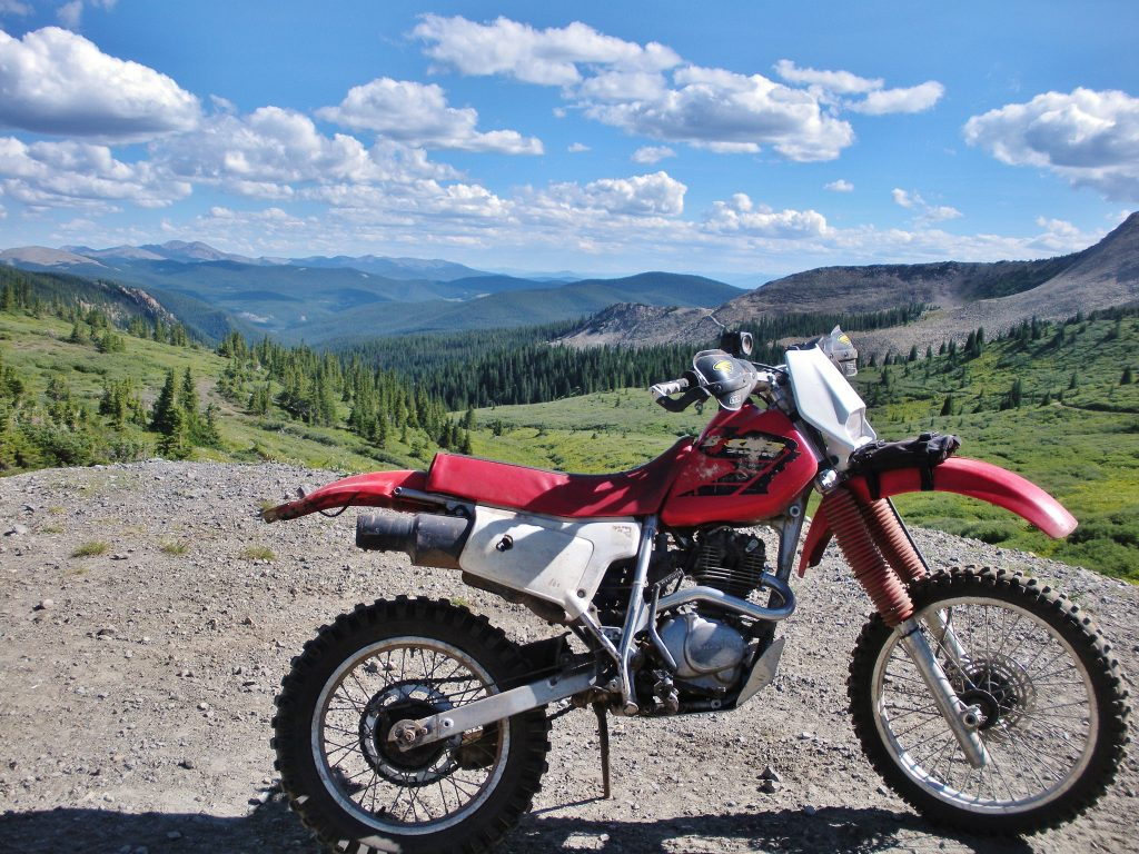 Riding on a slower xr200 dirt bike is safer