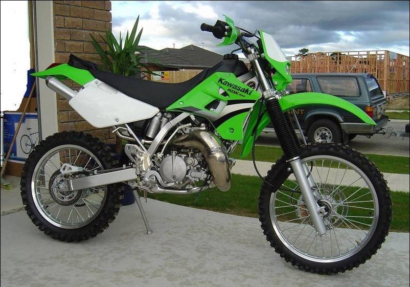 The Kawasaki KDX200 is a good 2 stroke trail bike for beginners