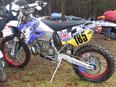 An enduro converted YZ250 mx bike