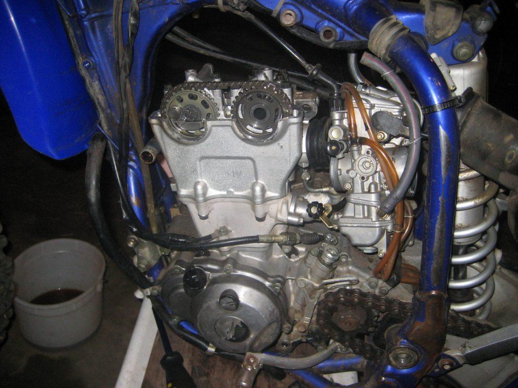 Yamaha YZ250F top-end rebuild