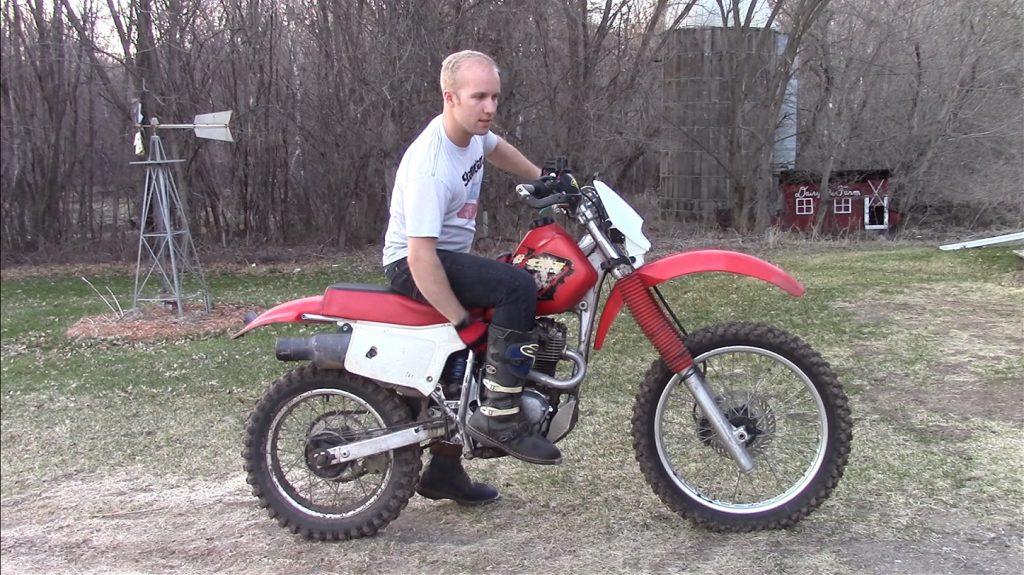 How to kick start an older dirt bike