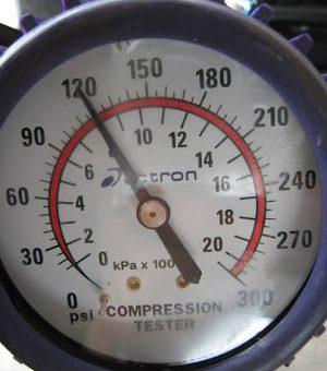 testing low compression on dirt bike 120 psi