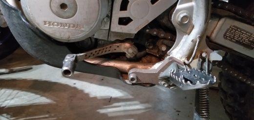 Dirt bike shift lever.