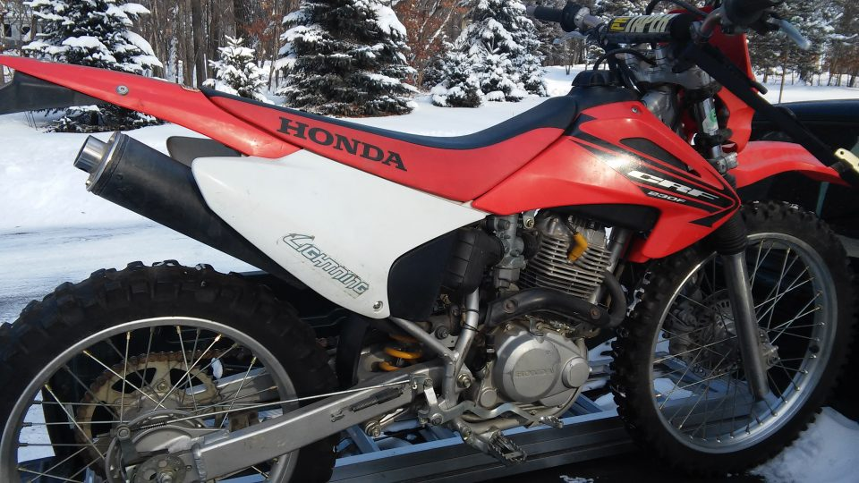 The Honda CRF230F is one of the best used dirt bikes for beginners if you're an adult or teenager