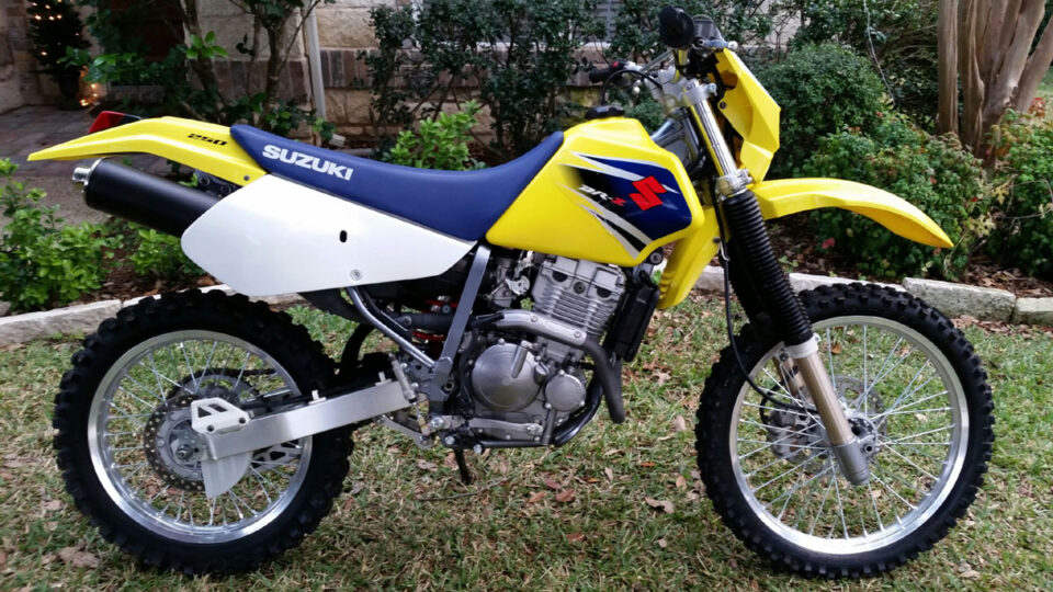 Stock DRZ250 is a capable trail bike for adults that are just starting out